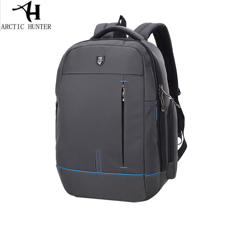 15.6 inch Mens Laptop Backpack Waterproof Nylon Backpack Business Travel Large Capacity Bagpack  BLack Gray School Bag<br>