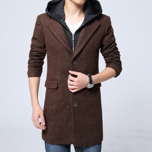 Mens Wool Winter Coats Personality Hooded Men's Fashion Design Trend Man Coats And Jackets 2016 Wool Jacket Men Wool Pea Coat
