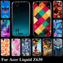Case For Acer Liquid Z630 Colorful Printing Drawing Transparent Plastic Phone Cover For Soft Silicone tpu mobile Phone Cases