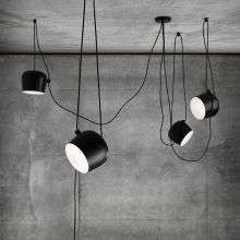 Scandinavian designer postmodern simple creative personality restaurant pendant lamp American industrial style pendant lights(China)