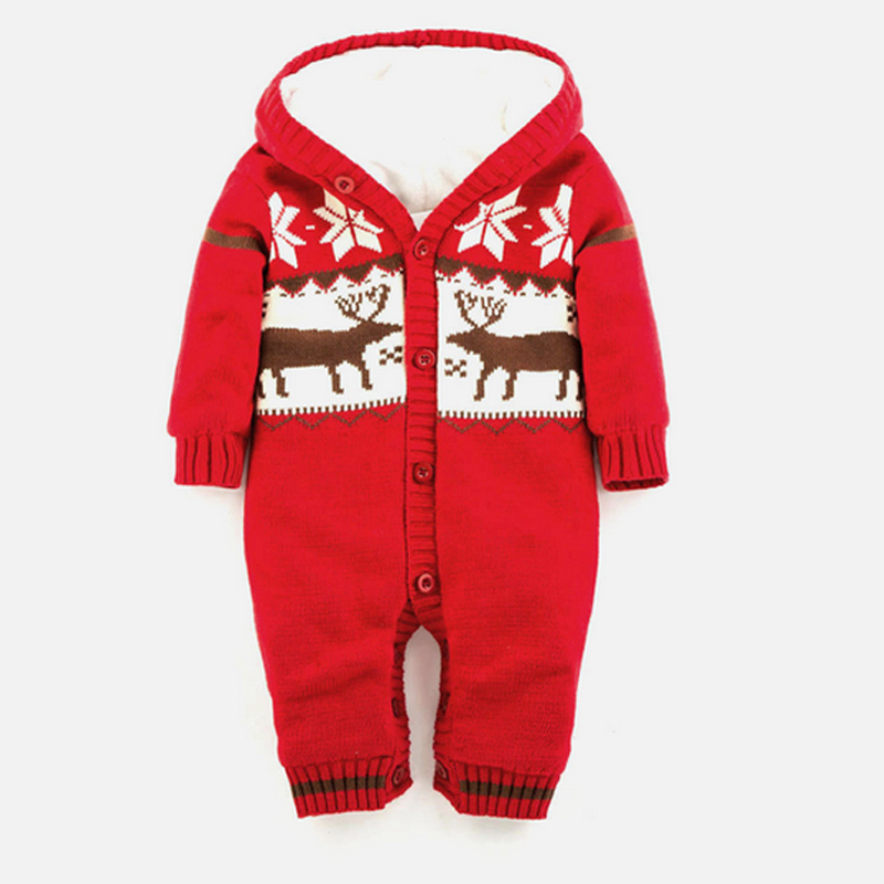 2017 NEW Christmas Elk Thickening Autumn And Winter Warm Soft Romper Kids Cotton Fashion Climb Clothes ATST0035<br><br>Aliexpress