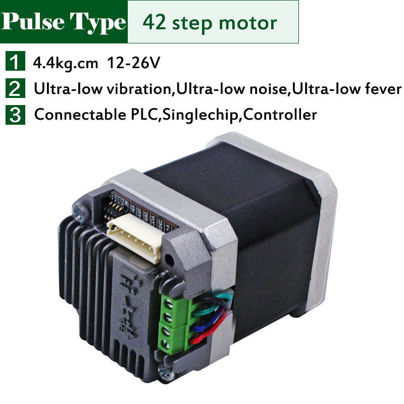 micro pulse signal 42 Step Motor+driver 62Oz-in for Engraving machine UIM240 Nema17 Stepper motor+Controller Free shipping<br>