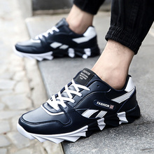 Newest Men Running Shoes 2017 Spring Autumn PU Blue men's Sneakers Outdoor Trainers Comfortable Jogging Homme Sport Shoes A228