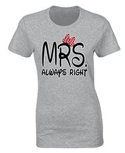 Advertising brand new women Short Sleeve Fitness Clothing icustomworld Women's Mrs Always Right printed shirts(China)