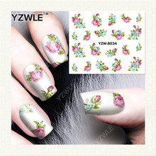 YZWLE  1 Sheet DIY Designer Water Transfer Nails Art Sticker / Nail Water Decals / Nail Stickers Accessories (YZW-8034)