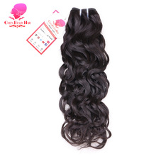 QUEEN BEAUTY HAIR Brazilian Water Wave Hair Bundles Remy Human Hair Weaving Natural Color 12inch To 30inch Hair Weft