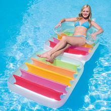 Swimming Inflatable Floating Row Pool Adult Water Pool Float Inflatable Water Float Seat Swim ring water bed kids(China)