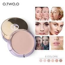 O.TWO.O 6 Colors Gold Concealer cream Makeup Primer Cover Pore Wrinkle Foundation Base Cream Brighten Waterproof Concealer(China)