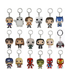 Game of Thrones Action Figure Toy Suicide Squad Harley Quinn Joker Harry Potter Series Guardians of the Galaxy Keychain