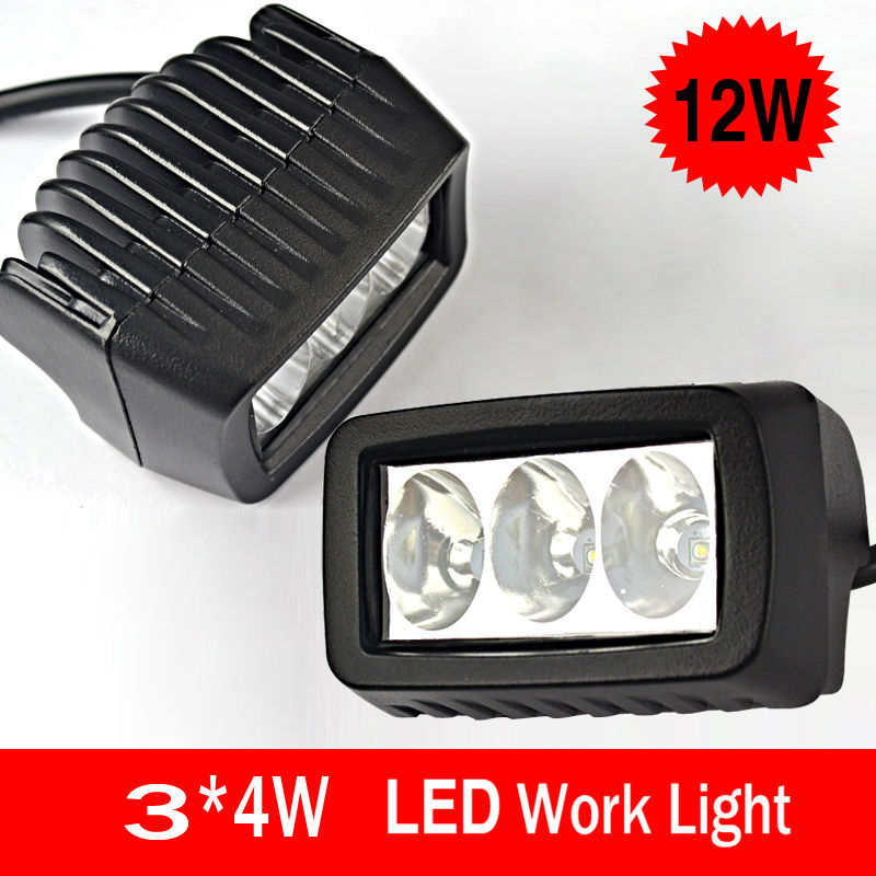 angeno 12W  Super bright  square offroad offroad LED work light,working lamp,Fog light kit  <br><br>Aliexpress