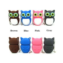 cartoon owl usb flash drive cute Pen drive personalized disk memory stick pendrive mini computer tablet gift 4gb 8gb 16gb 32gb