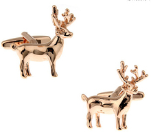 Christmas Gift For Men Animal Cufflinks Novelty Xmas Deer Design Copper Cuff Links Wholesale&retail