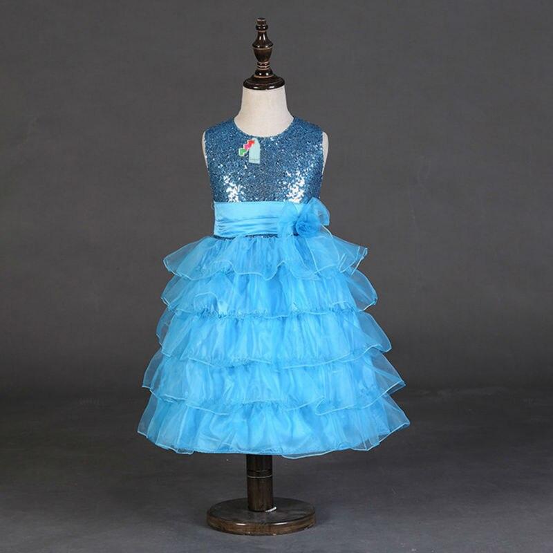 Hot Sale Sleeveless Girl Wedding Dress Kids Summer Bow Princess Dresses Girl Clothes<br><br>Aliexpress