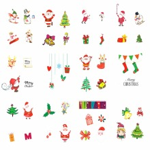 FWC Christmas Design DIY Decals Nails Art Water Transfer Printing Stickers Accessories For Manicure Salon