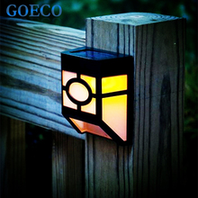 2XCE Approved Led Wall Lamp Solar powered Led Path fence lamp Outdoor Lighting Solar Wall light Countryside Fence Patio Lantern(China)