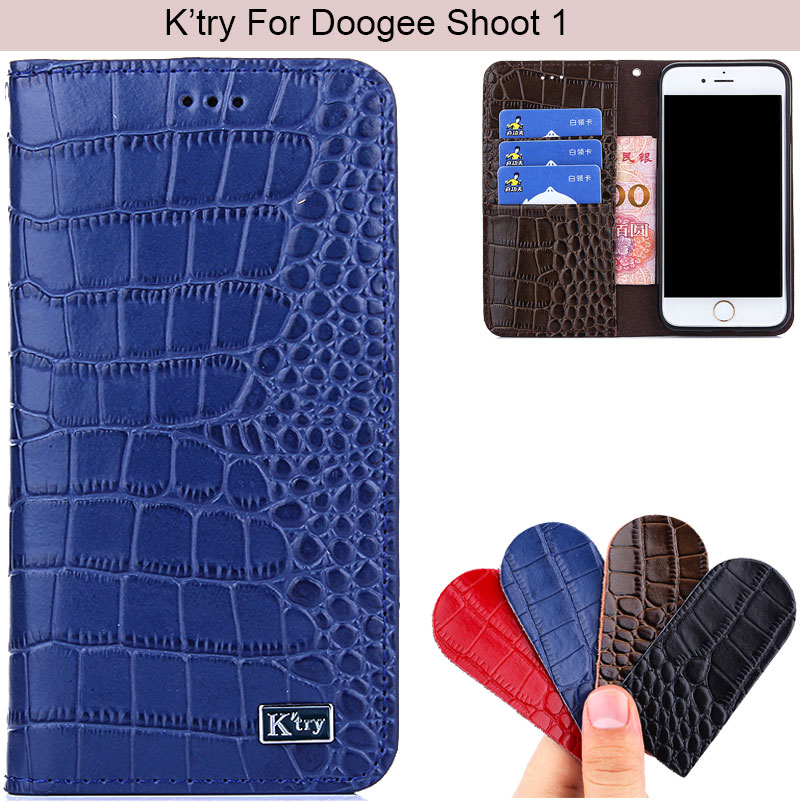 K'Try Alligator Genuine Real Leather Cover Case Luxury Elegant Cover Waist Pouch Doogee Shoot 1