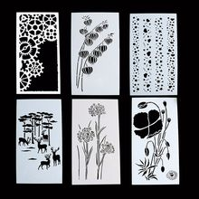 1PC Beautiful Plant Flower Reusable Stencil Airbrush Painting Art DIY Home Decor Scrapbooking Album Craft(China)