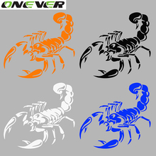 3D Car Stickers and Decals Cute Scorpion Car Styling Stickers 28cm Funny Car Stickers For BMW VW Ford Toyota Honda Kia Stickers