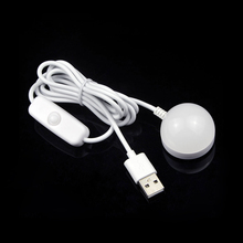 1Pcs Portable USB Powered LED Night light Desk Book Reading Ceiling lamp For Camping Emergency Bulb gift With Switch ON / OFF