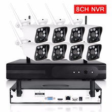 8CH CCTV System Wireless 720P NVR 8PCS 1.0MP IR Outdoor P2P Wifi IP CCTV Security Camera System Surveillance Kit 1TB HDD