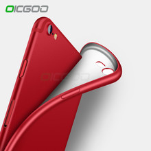 OICGOO Luxury Cases For iPhone 8 7 Case 6S 7 Plus 6 Back Matte Soft Silicon Full Cover For iPhone 8 7 6 Plus Case Phone Coque(China)