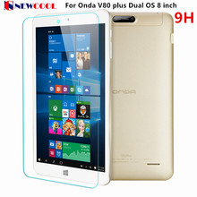 NEWCOOL 9H 2.5d For Onda V80 plus Dual OS 8 inch Tablet 9H Tablet Tempered Glass Screen Protector Protective Film(China)