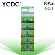YCDC Sale 10Pcs/Lot RETAIL LONG LASTING AG1 364 LR621 164 531 SR60 SR621SW 1.55V Watch Battery Button Coin Cell 100% Original(China)