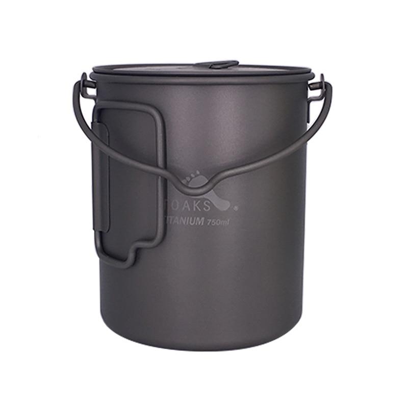 TOAKS 750ml Cookware Set Ultralight Titanium Pot Frying Pan Outdoor Camping Titanium Bowl Titanium Cup Picnic <br>
