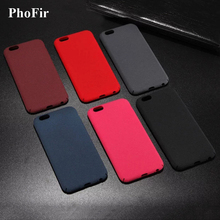 PhoFir Hard Frosted Slim Case for iphone 7 6S 6 8 Plus X Matte Rock Sand Quicksand PC Back Cover Black Grey Blue Wine Red(China)