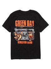 Best Selling Male Natural Cotton Shirt Cotton O-Neck Green Day Revolution Radio Album T-Shirt Short-Sleeve Mens Shirts(China)