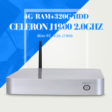 The cheapest celeron J1900 4g ram 320g hdd with wifi fan computer thin client laptop computer mini computer(China)