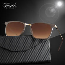 TRUTH polarized sunglasses luxury women brand flex hinge acetate Gradient lenses clear sunglasses brand in case lunette femme