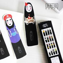 30 pcs/pack Thank You No Face Man Black Boy Bookmark Paper Cartoon Bookmark Promotional Gift Stationery Film Bookmark(China)