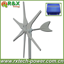 12V/24V wind generator 300w horizontal axis wind turbine generator, start up speed 2m/s wind mill +wind/solar hybrid controller.(China)