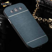 KISSCASE Luxury Slim Metal Case For Galaxy S3 Fashion Ultra Thin Aluminum Cell Phone Cover For Samsung Galaxy S3 I9300