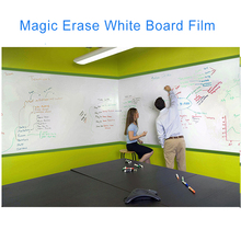 Hot Sale White Board Film/Magic/Vinyl/Window install/Written erase Film 152cmx3m/ 20inx10FT(China)