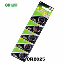 5PCS/LOT High Quality GP CR2025 3V Lithium Button Cell Battery 2025 Button Coin batteries Free Shipping