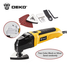 DEKO 220V AC Variable Speed Electric Multi-function Oscillating Tool Multi-Tool DIY Power Tool Electric Trimmer w/ 8 Accessories(China)