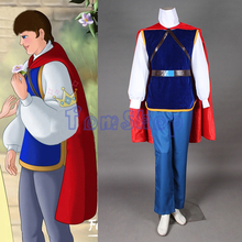 Fairy Tale Snow White and the Seven Dwarfs the Handsome Prince Cosplay Uniform Suit Custom-made Full Set Men Halloween Costumes