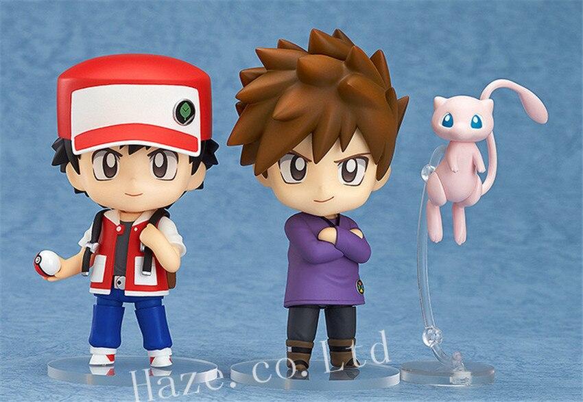 Pokemon Ash Ketchum Gary Oak Mew Nendoroid PVC Figure 10cm<br><br>Aliexpress