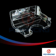 PQY RACING- NEW racing timing belt cover / clear pulley cover / cam gear cover for TOYOTA SUPRA 1JZ PQY6336