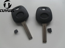 New Uncut Blade Key Case For Toyota Crown Transponder key Shell TOY48 Blade