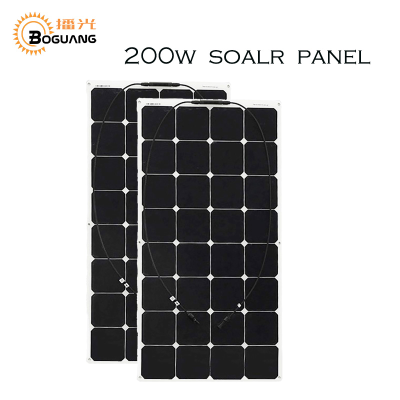 2 PCS 100W High-efficiency photovoltaic flexible s...