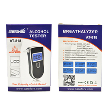 10pcs/bag Patent Prefessional Police Digital Breath Alcohol Tester Breathalyzer with Mouthpiece 3 convertible unit Breathalyzer(China)