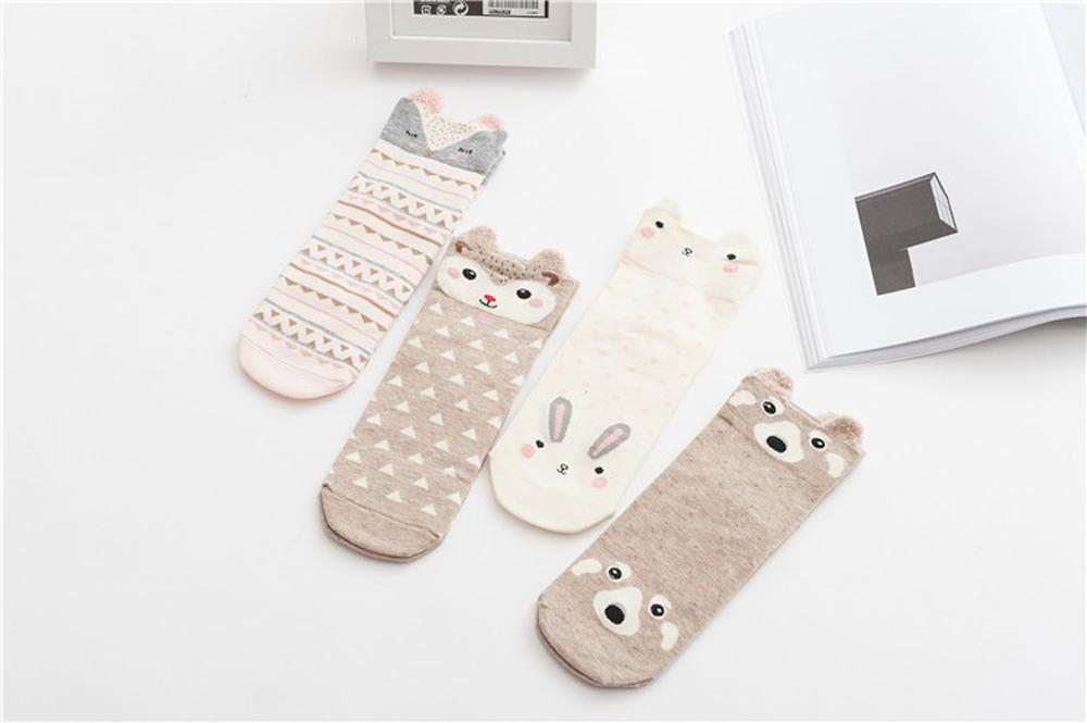 17 New Lovely Cartoon Women Socks High Quality Cotton Sox Japanese Fashion Style Socks Autumn Winter Warm Socks For lady Girls 7
