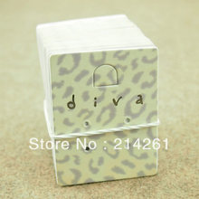 wholesale free shipping by fedex diva earring card customize logo moq: 2000 pcs customized logo for necklace card garment tag(China)