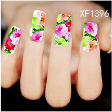 1sheets DIY  Nail Art Products Fashion Water Transfer Stickers Decals all for Nails Tips Decorations Nail Tools XF1396