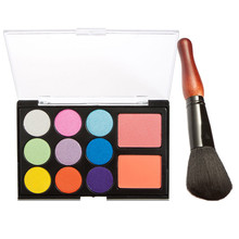 New Make Up Paleta De Sombra Eyeshadow Pallete Pro 11 Color Plate  Makeup  Eye Shadow Blush Color Plate+ Gourd Shape Brush Set