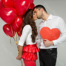 2.2g 20pcs/lot Romantic lovely Red Heart Shaped Pearl Latex Balloons Wedding Birthday Party Decor Valentines Day inflatable ball(China)