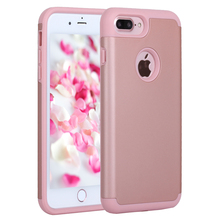 For Apple iPhone 7 / 7 Plus Phone Cases Soft Rubber Silicone Hybrid Case Covers Fundas w/Screen Protector Film+Stylus Pen(China)